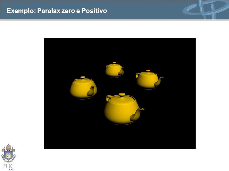 Exemplo: Paralax zero e Positivo