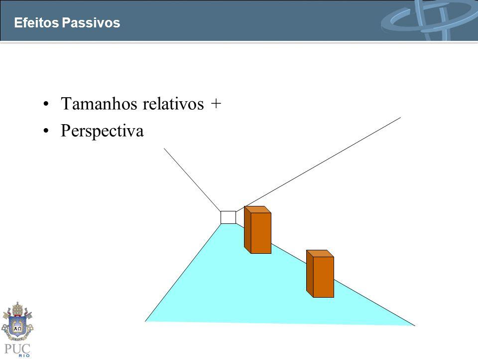 Efeitos Passivos Tamanhos relativos + Perspectiva