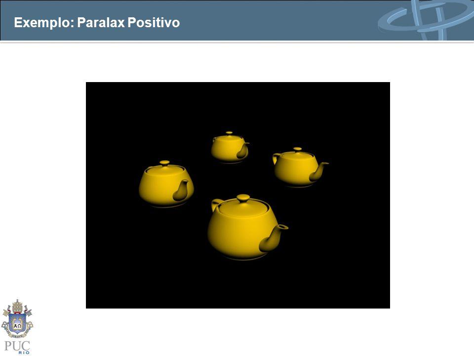 Exemplo: Paralax Positivo