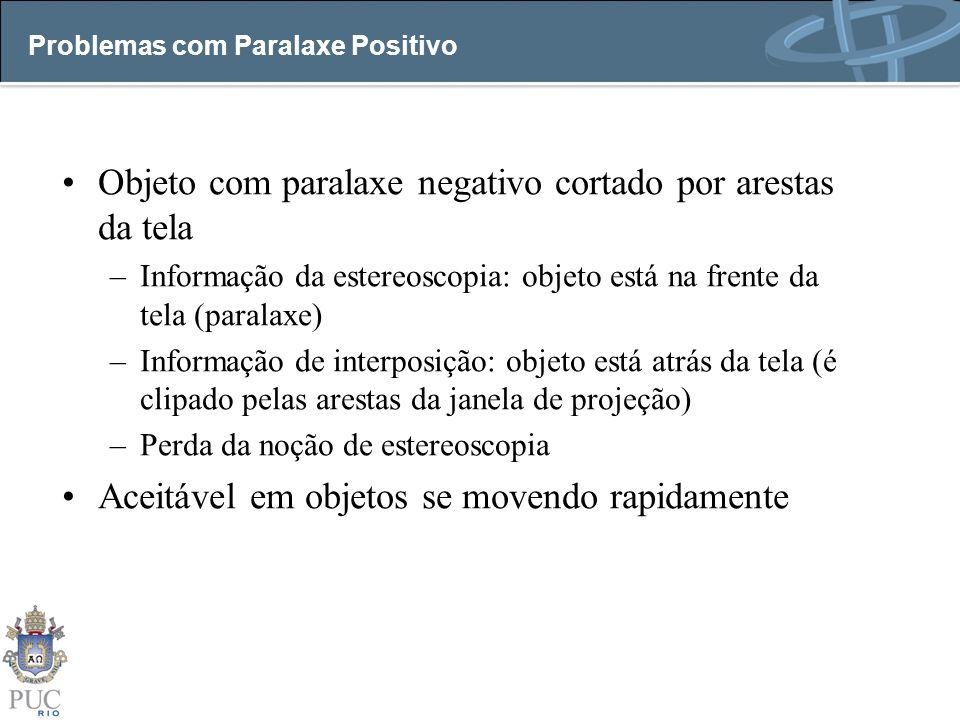 Problemas com Paralaxe Positivo