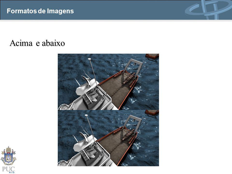 Acima e abaixo Formatos de Imagens