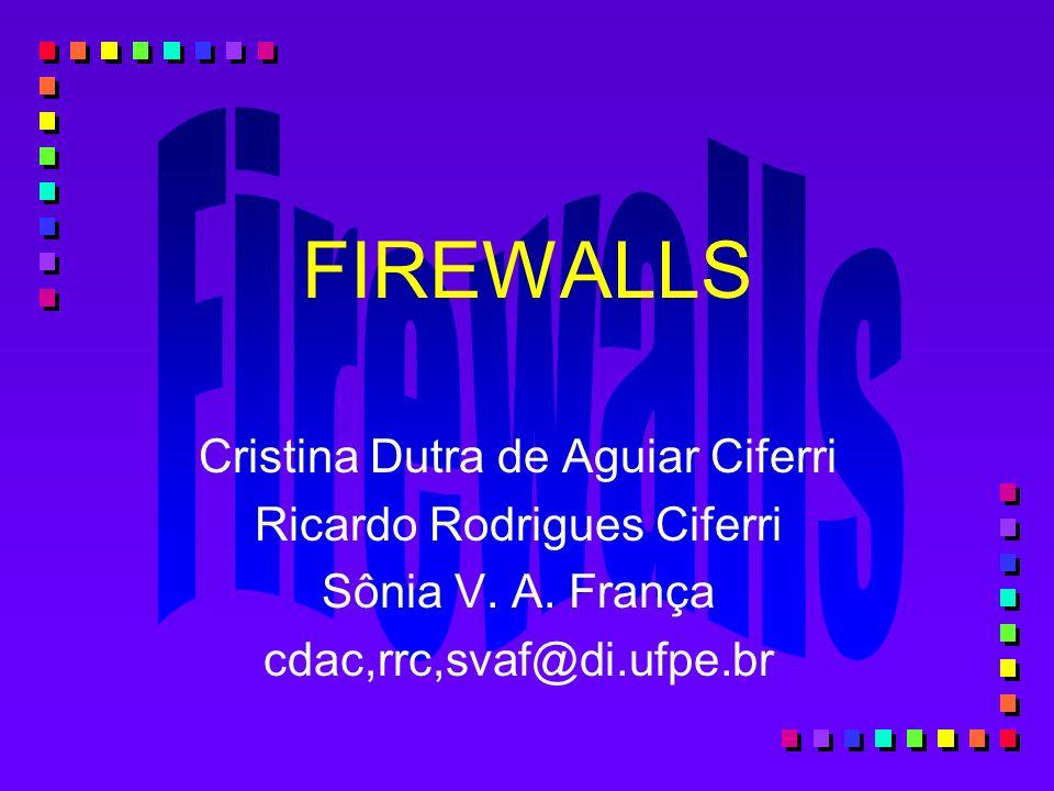 FIREWALLS Cristina Dutra de Aguiar Ciferri Ricardo Rodrigues Ciferri
