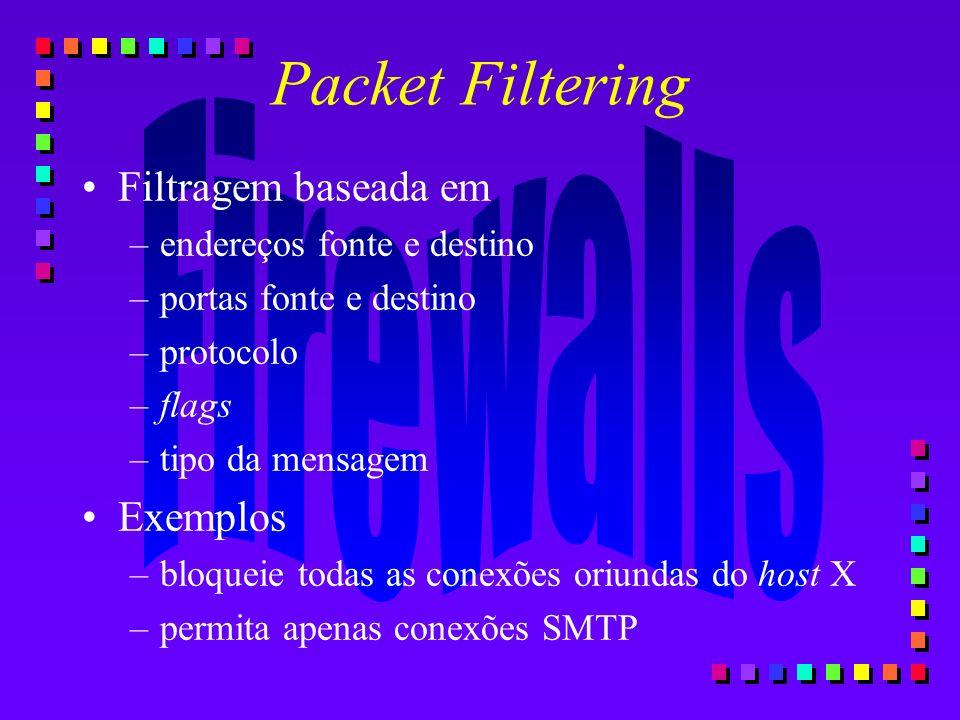 Packet Filtering Filtragem baseada em Exemplos