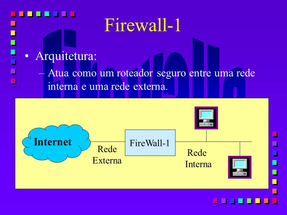 Firewall-1 Arquitetura:
