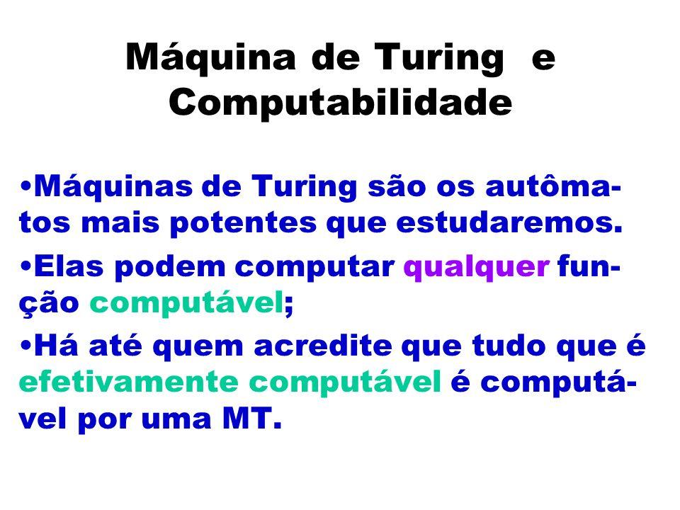 Máquina de Turing e Computabilidade