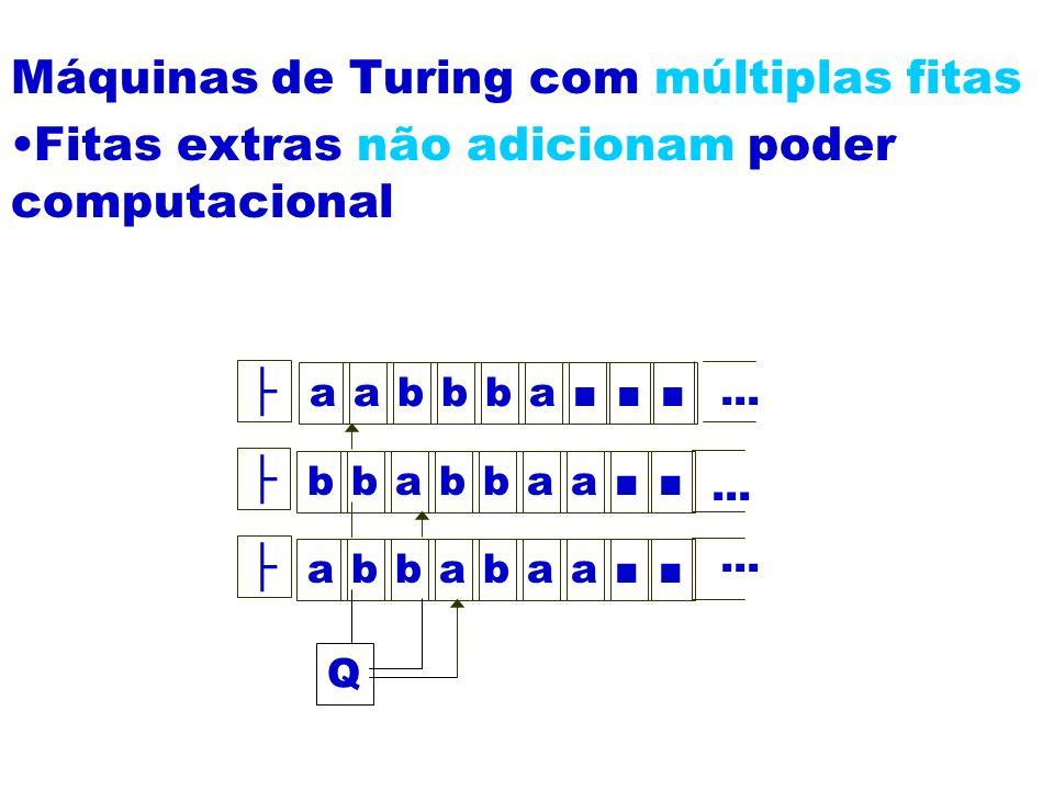 Máquinas de Turing com múltiplas fitas