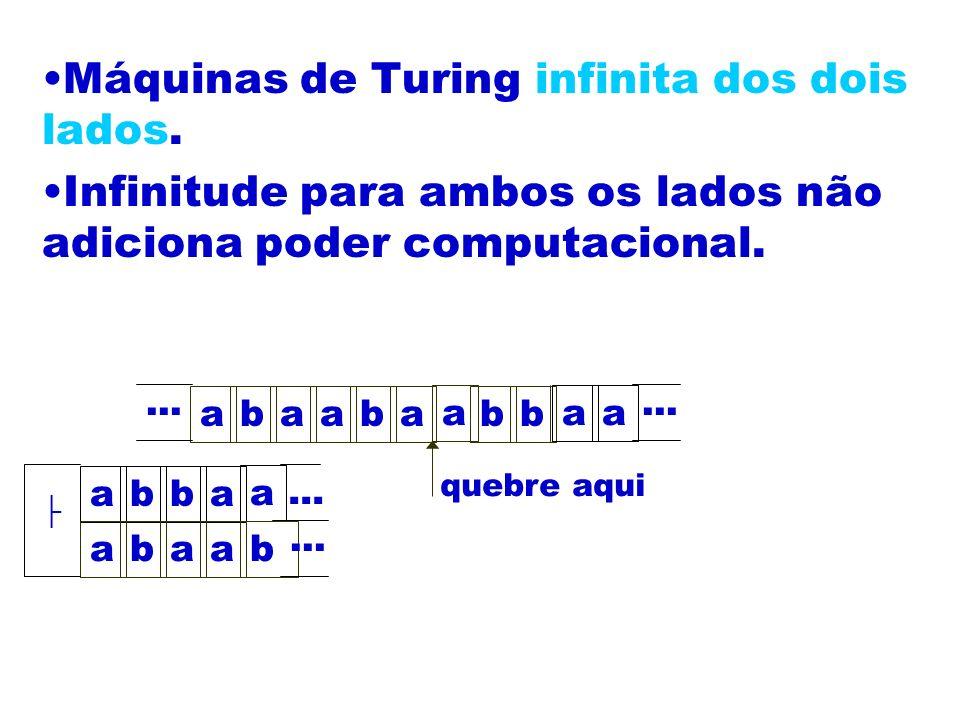Máquinas de Turing infinita dos dois lados.