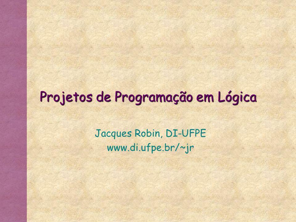 Projetos de Programação em Lógica
