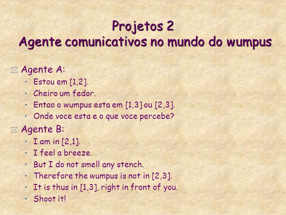 Projetos 2 Agente comunicativos no mundo do wumpus