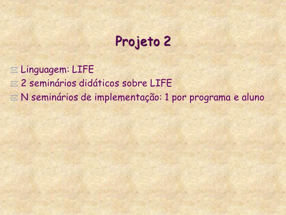 Projeto 2 Linguagem: LIFE 2 seminários didáticos sobre LIFE
