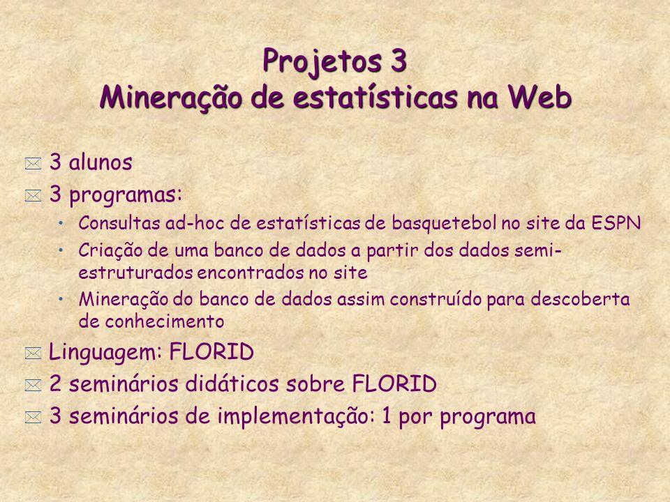 Projetos 3 Mineração de estatísticas na Web