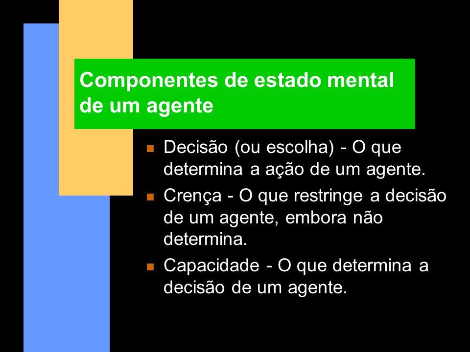 Componentes de estado mental de um agente
