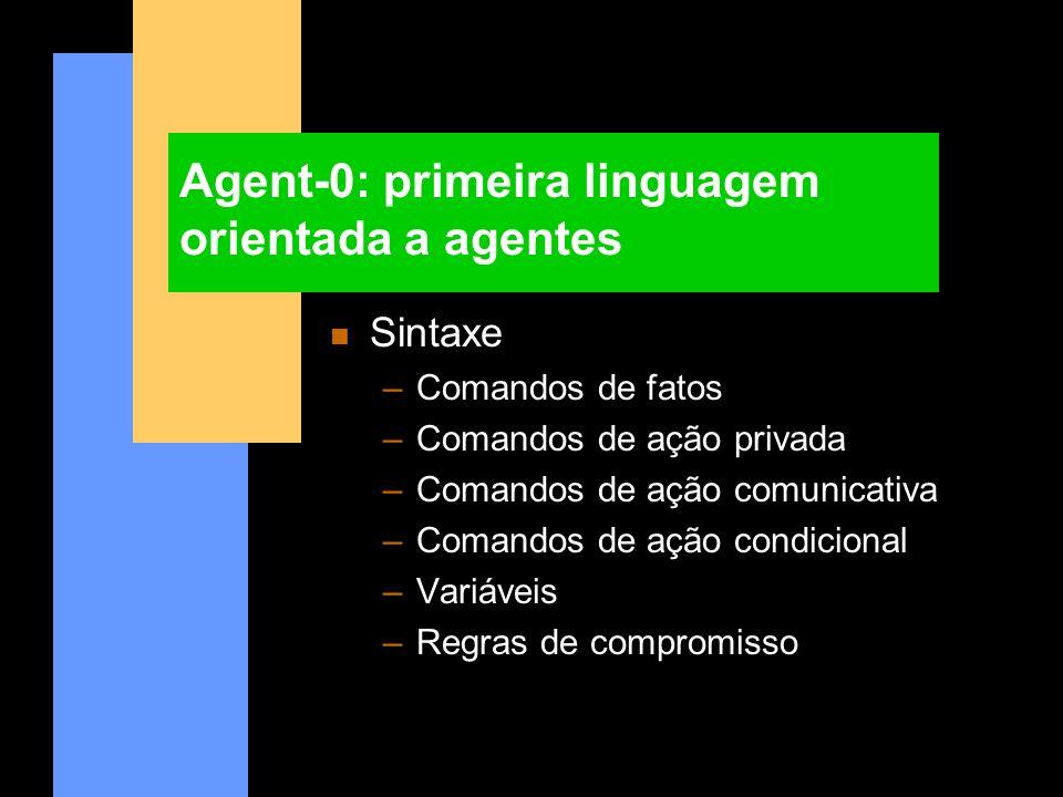 Agent-0: primeira linguagem orientada a agentes