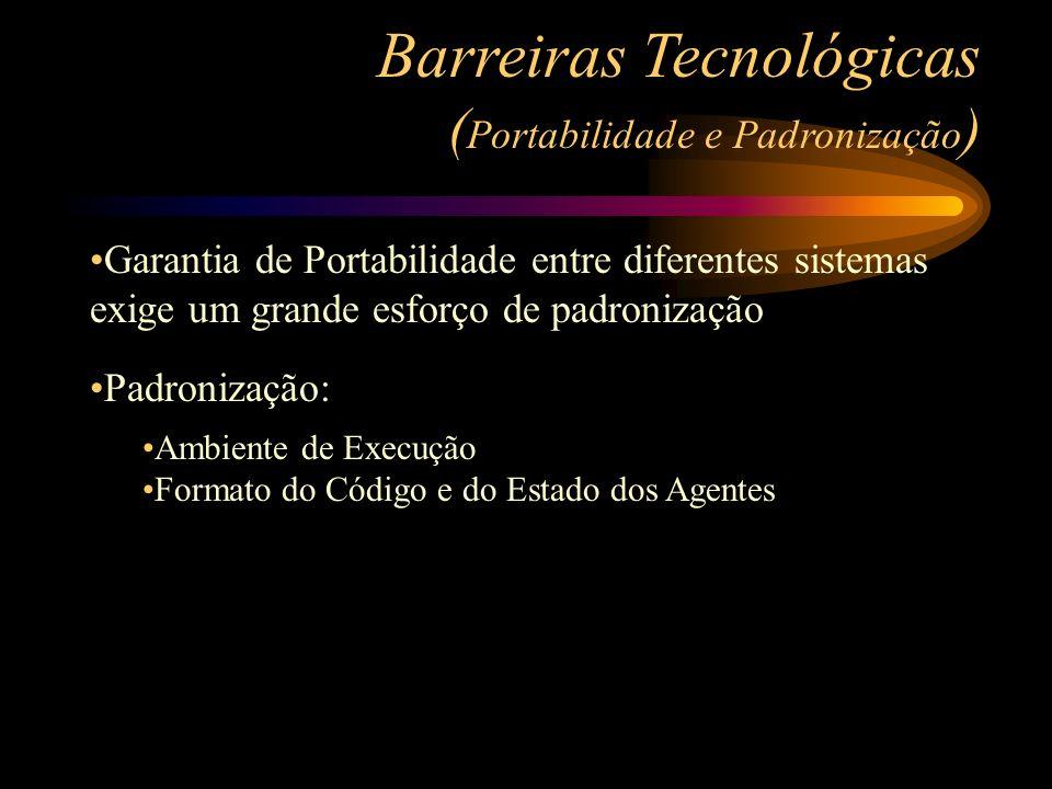 Barreiras Tecnológicas (Portabilidade e Padronização)