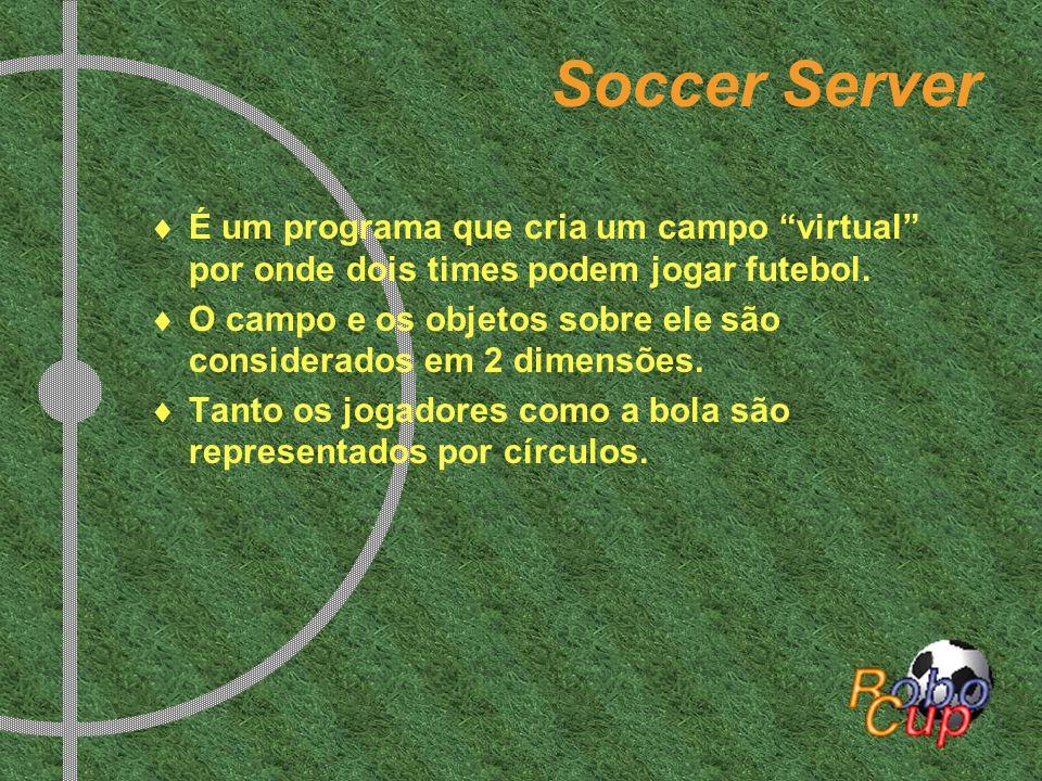 Soccer Server É um programa que cria um campo virtual por onde dois times podem jogar futebol.