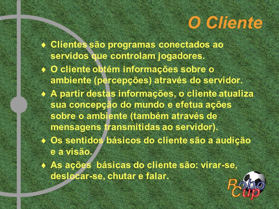 O Cliente Clientes são programas conectados ao servidos que controlam jogadores.