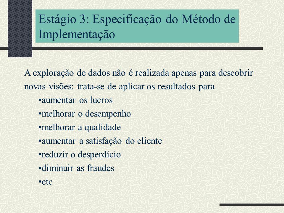 Estágio 3: Especificação do Método de Implementação