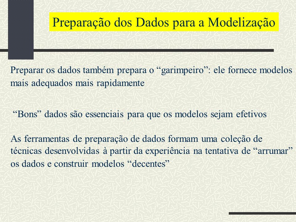 Preparação dos Dados para a Modelização