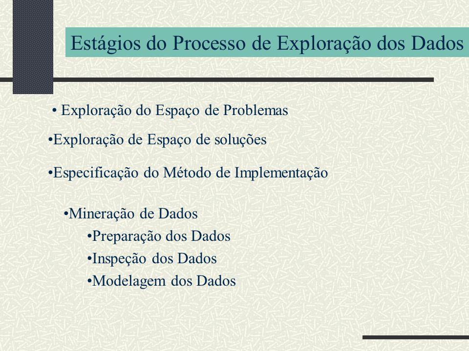 Estágios do Processo de Exploração dos Dados