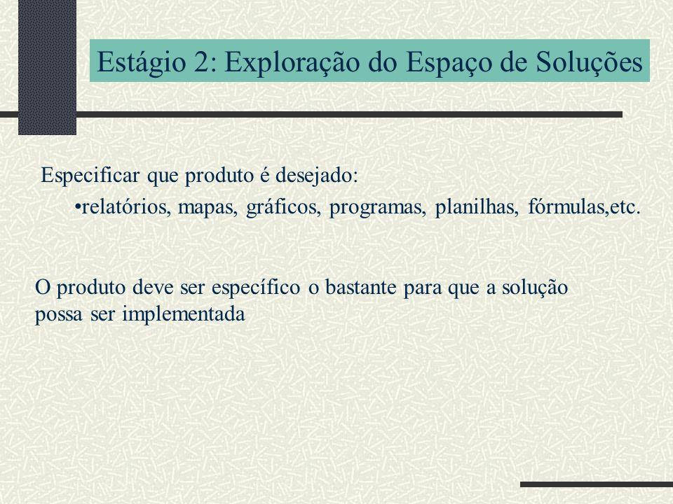 Estágio 2: Exploração do Espaço de Soluções