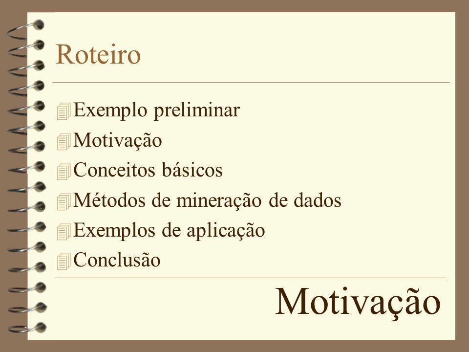 Motivação Roteiro Exemplo preliminar Motivação Conceitos básicos