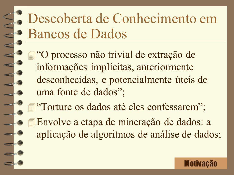 Descoberta de Conhecimento em Bancos de Dados