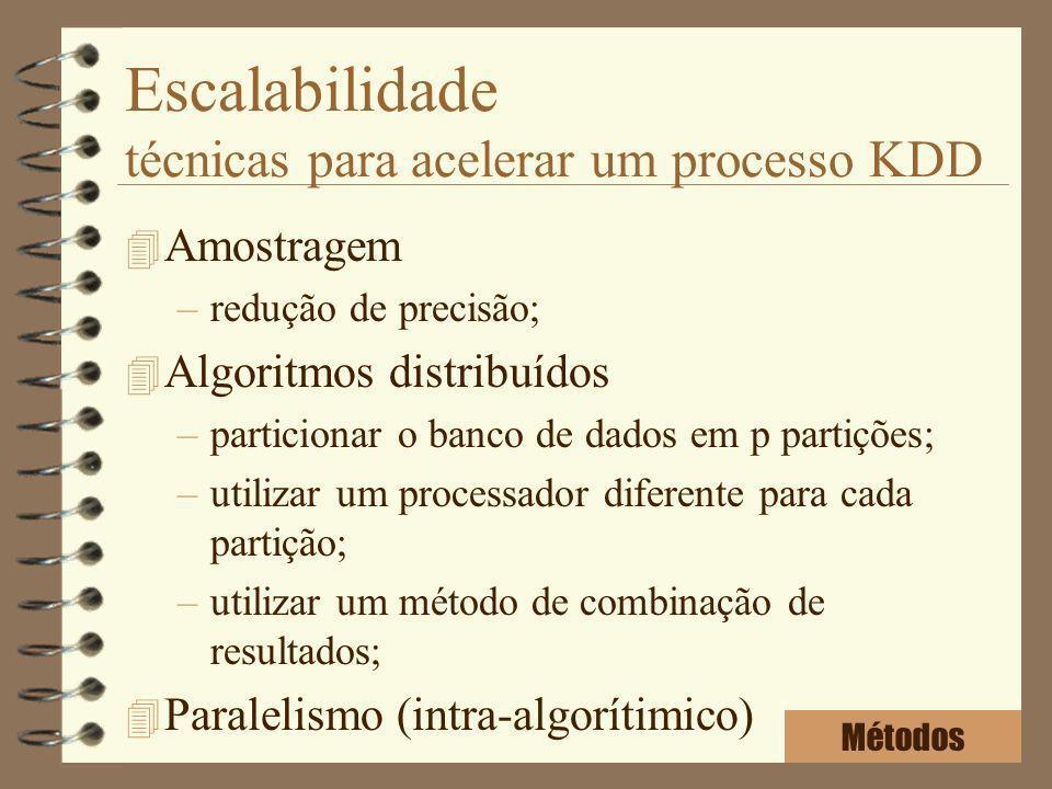Escalabilidade técnicas para acelerar um processo KDD