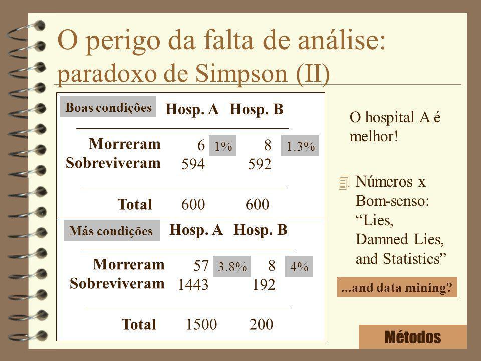 O perigo da falta de análise: paradoxo de Simpson (II)