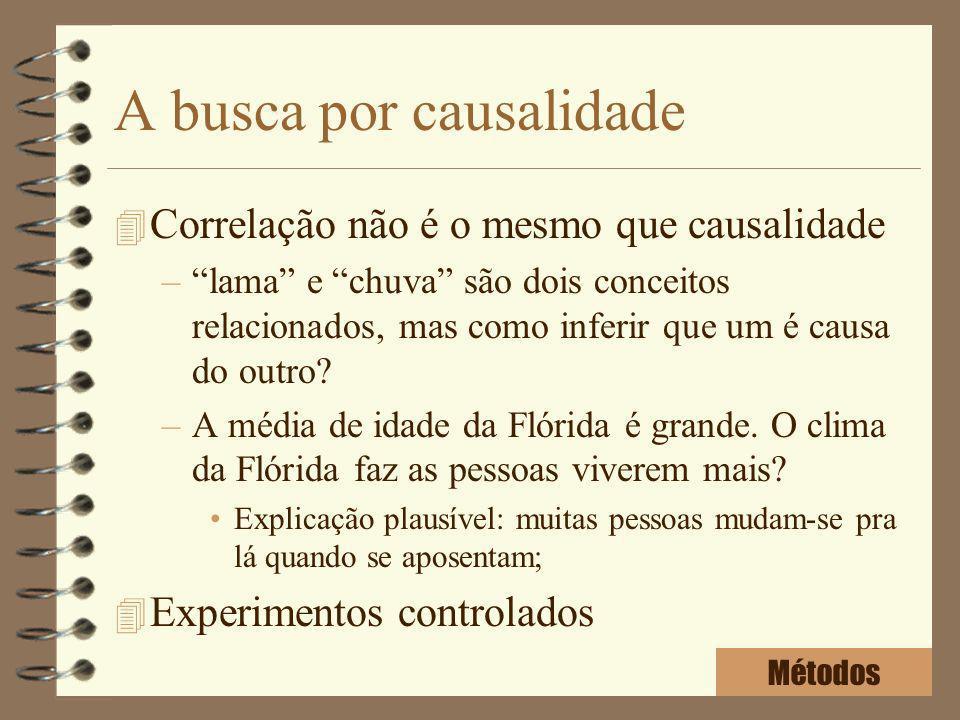 A busca por causalidade