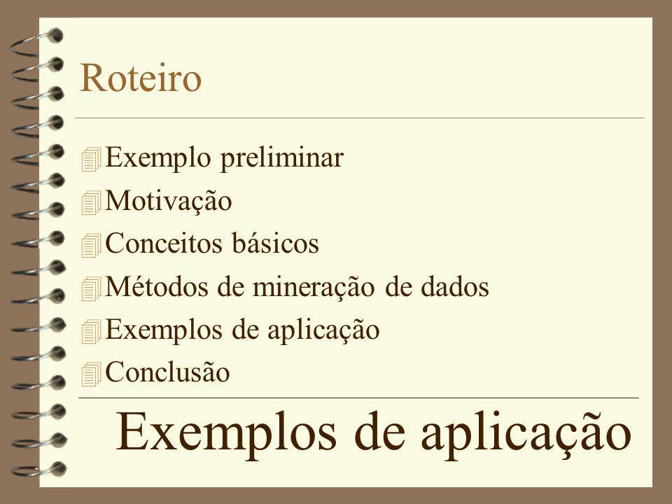 Exemplos de aplicação Roteiro Exemplo preliminar Motivação