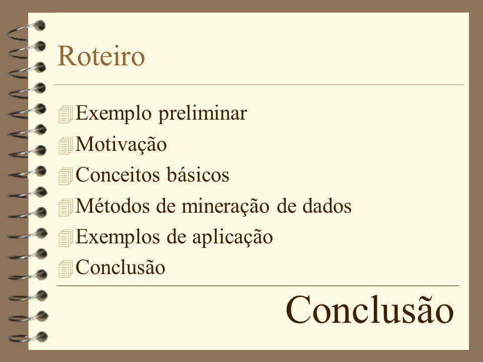 Conclusão Roteiro Exemplo preliminar Motivação Conceitos básicos