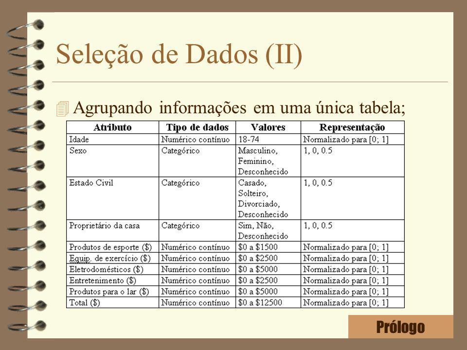 Seleção de Dados (II) Agrupando informações em uma única tabela;