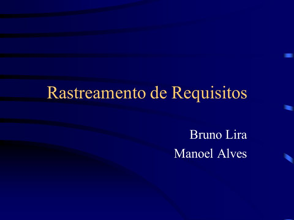 Rastreamento de Requisitos