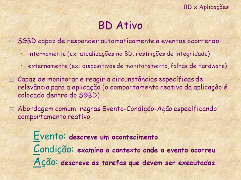 Evento: descreve um acontecimento