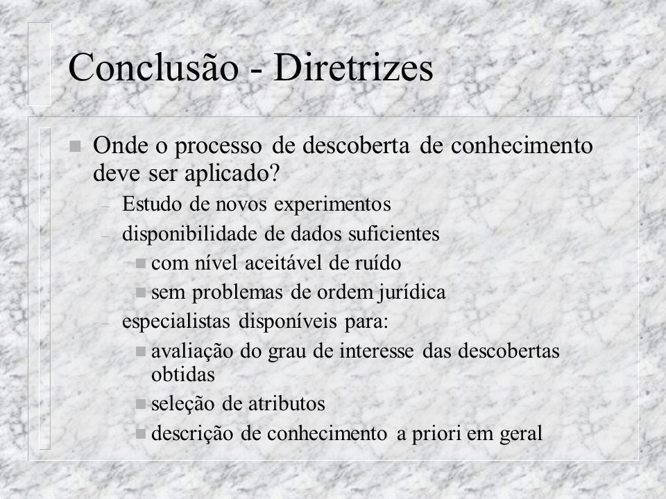 Conclusão - Diretrizes
