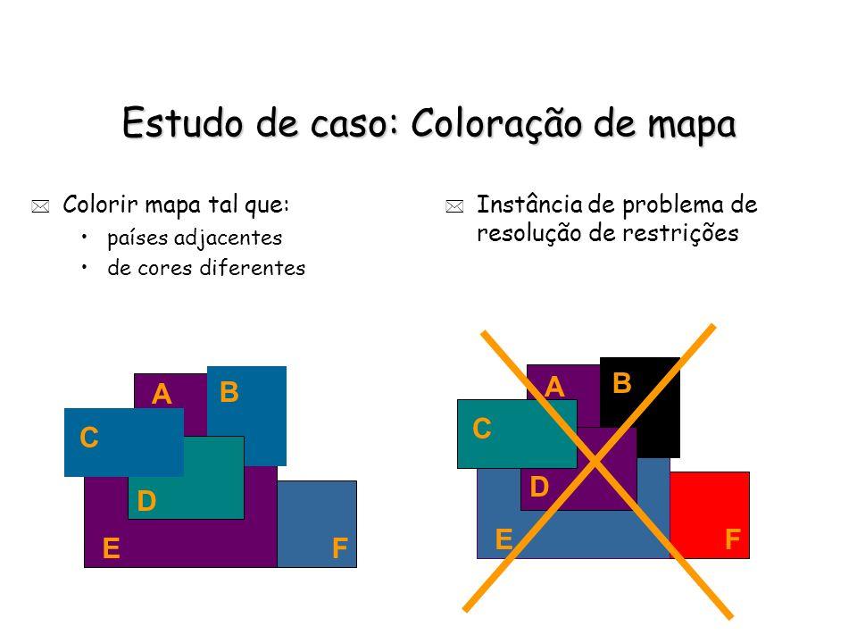 Estudo de caso: Coloração de mapa