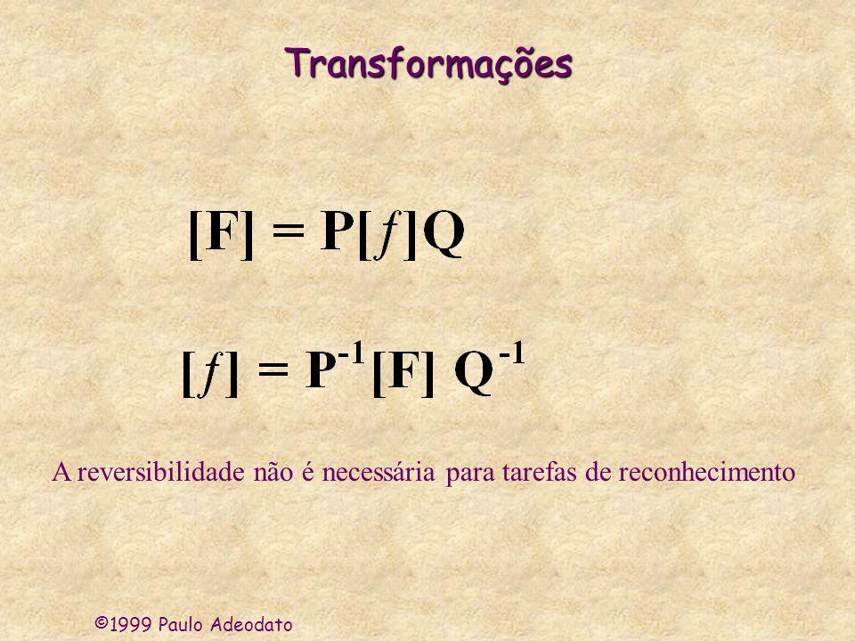 Transformações A reversibilidade não é necessária para tarefas de reconhecimento