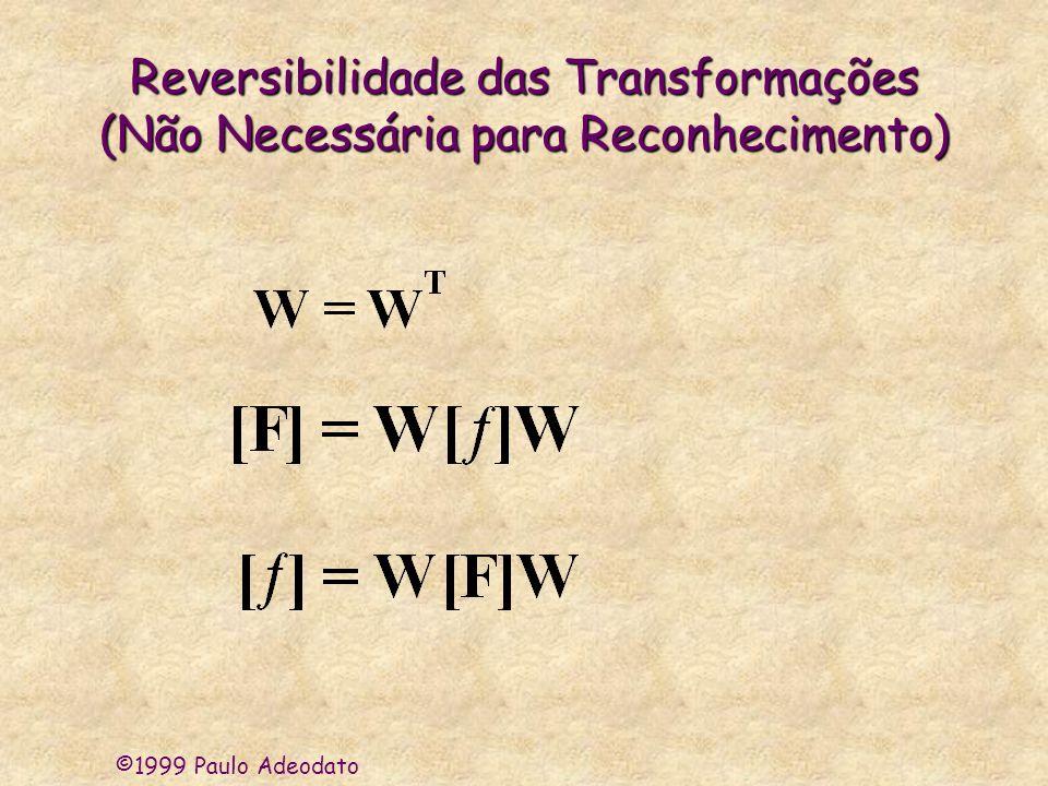 Reversibilidade das Transformações (Não Necessária para Reconhecimento)