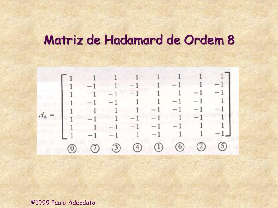 Matriz de Hadamard de Ordem 8
