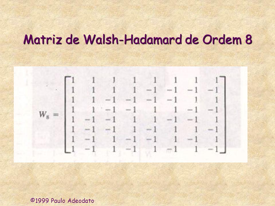Matriz de Walsh-Hadamard de Ordem 8