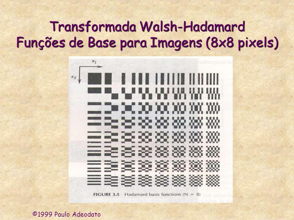 Transformada Walsh-Hadamard Funções de Base para Imagens (8x8 pixels)