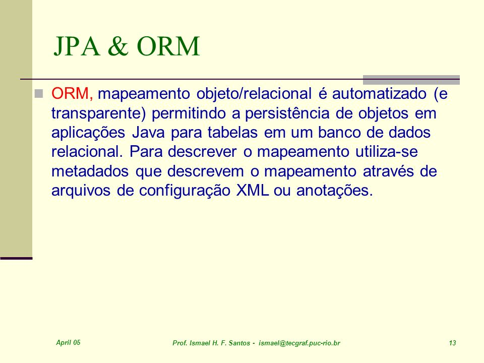 JPA & ORM