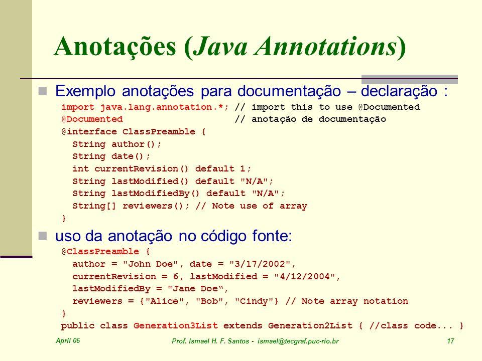 Anotações (Java Annotations)