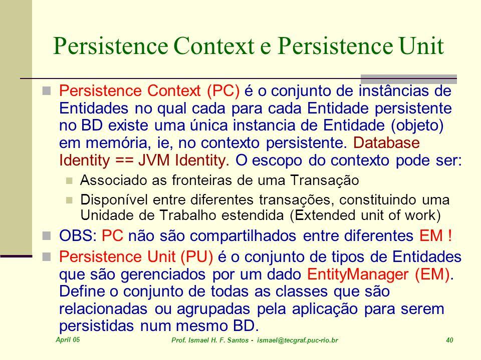 Persistence Context e Persistence Unit