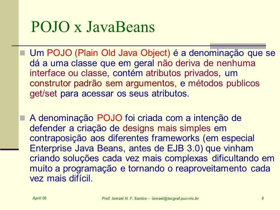 POJO x JavaBeans