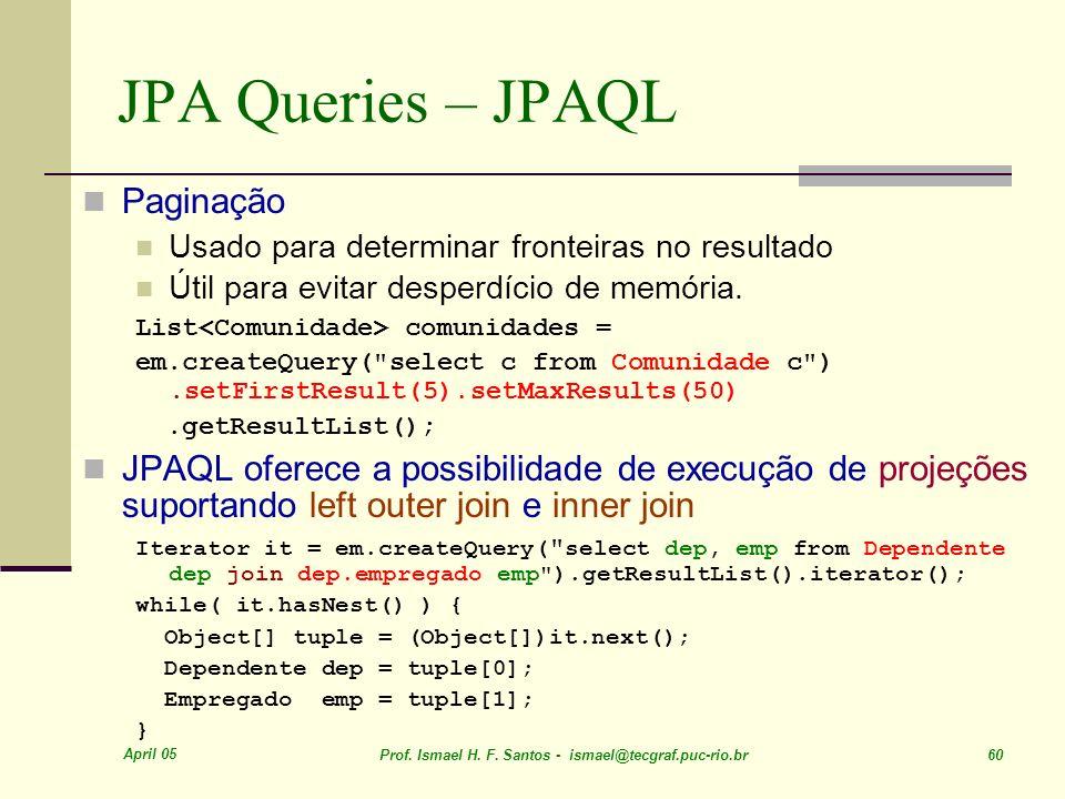 JPA Queries – JPAQL Paginação