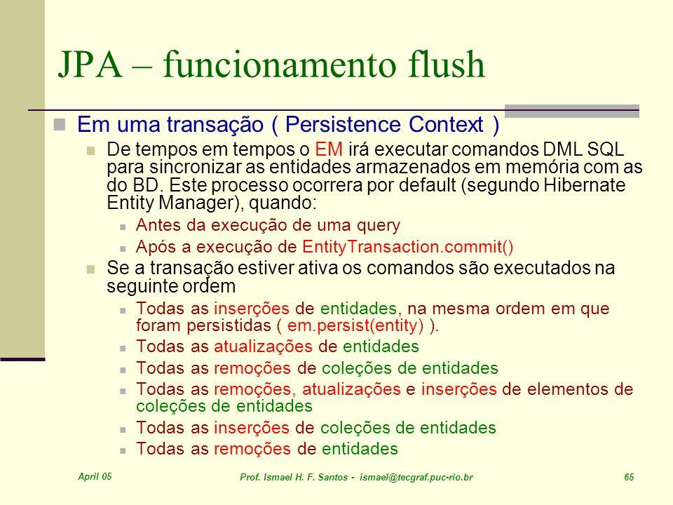 JPA – funcionamento flush