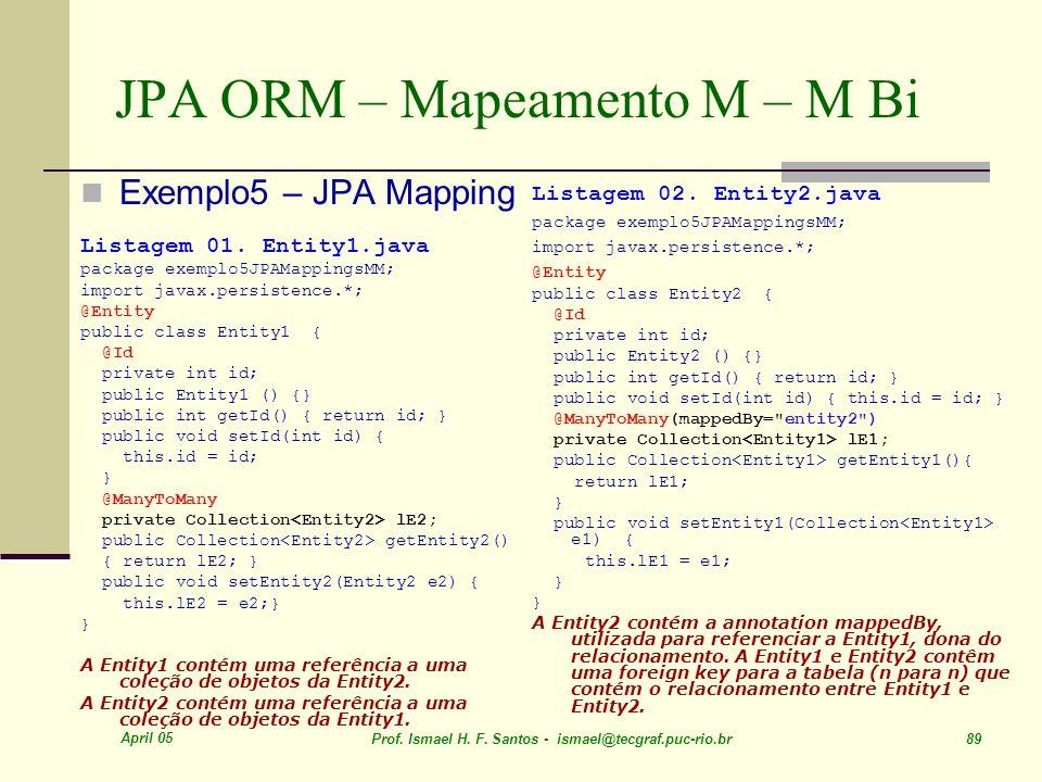 JPA ORM – Mapeamento M – M Bi