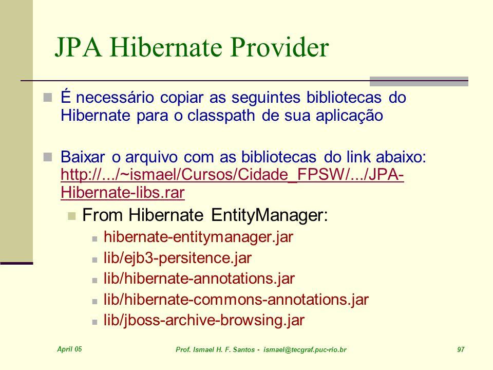 JPA Hibernate Provider
