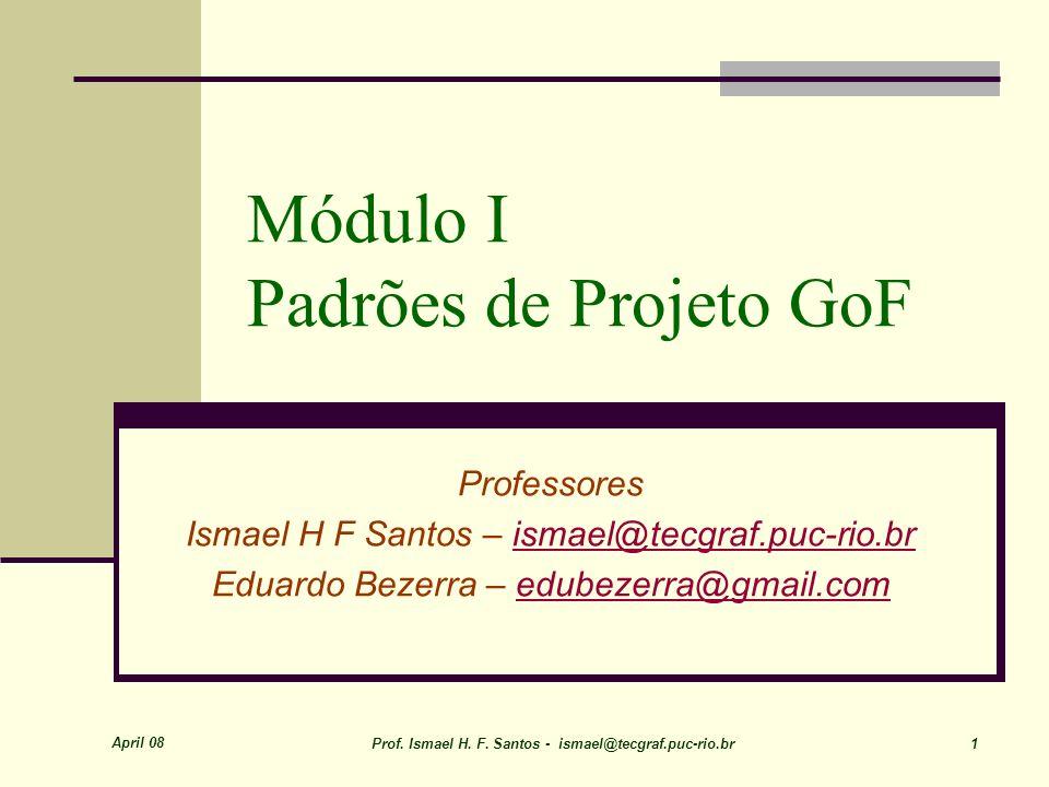 Módulo I Padrões de Projeto GoF